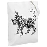 Холщовая сумка «Собака Каляка», молочно-белая фото