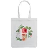 Холщовая сумка «Цветочная азбука: Н», молочно-белая фото