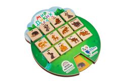 Игра «Волшебные окошки. Мир диких зверей», разноцветная фото