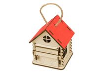 Игрушка-упаковка из фанеры Домик, красный фото