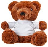 Мягкая игрушка Медвежонок Умка в футболке, коричневый фото