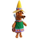 Мягкая игрушка Пес Хосе, разноцветная фото