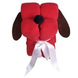 Игрушка-плед Пес Трансформер, красный фото