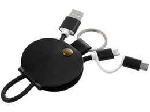 Кабель для зарядки Gist 3 в 1, черный фото