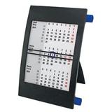 Календарь настольный на 2 года, чёрный/ синий фото