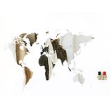 Карта-пазл зеркальная wall decoration exclusive, 130х78 см фото