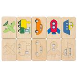 Карточки-раскраски Wood Games, транспорт фото