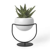 Кашпо для растений настольное nesta, белый фото