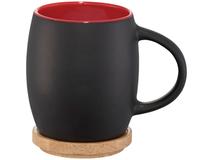 Керамическая чашка Hearth, черный, красный фото