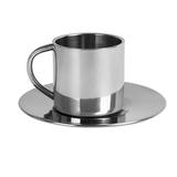 Кофейная пара, 150 мл, металл, лазерная гравировка, серый фото