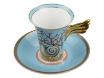 Кофейная пара La Mer, синий, голубой, желтый фото