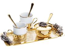 Кофейная пара Завтрак Императора Chinelli, белый, золотой фото