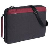 Конференц-сумка 2 в 1 twoFold, серый с бордовым фото