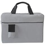 Конференц-сумка Sense с карманом, черный/ серый фото