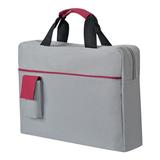 Конференц-сумка Sense с карманом, серый, красный фото