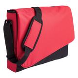 Конференц сумка Unit Messenger, красно-черная фото