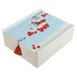 Коробка, деревянная, с принтом «Ягоды» фото
