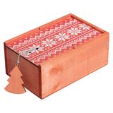 Коробка деревянная «Скандик», красная фото