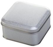 Коробка квадратная, серебристая фото