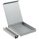 Коробка под блокнот и ручку Shade, серебристая фото