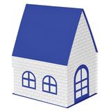 Упаковка подарочная, коробка ДОМ складная, синий фото