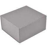 Коробка подарочная складная, серебристый фото