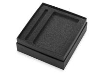 Коробка с ложементом Smooth M для ручки и блокнота А6, черный фото