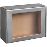 Коробка с окном Visible, серебристая фото