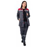 Костюм рабочий женский «Весна», серый с красным фото