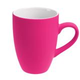 Кружка Best Morning c покрытием софт-тач, ярко-розовая (фуксия) фото
