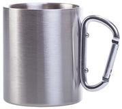 Кружка Carabine, с серебристой ручкой-карабином фото