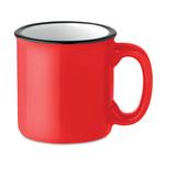 Кружка керамическая ретро, красный фото