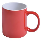 Кружка керамическая 300 мл, красный/белый фото