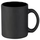 Кружка керамическая матовая, черная фото