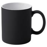 Кружка Promo c прорезиненным покрытием, черная фото
