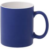 Кружка Promo матовая, синяя фото