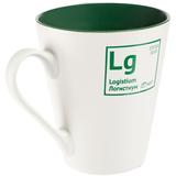 Кружка «Разделение труда. Логистиум», белая с зеленым фото
