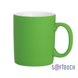 Кружка с покрытием soft touch, салатовый фото