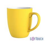 Кружка Fresh, покрытие soft touch, желтый фото