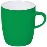 """Кружка """"Soft"""" с прорезиненным покрытием, зеленая, 350 мл, фарфор фото"""