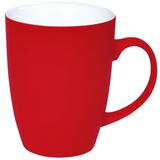 Кружка Sweet с прорезиненным покрытием, красный, 350 мл фото