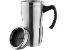 Термокружка Tech, черный, серебряный/серый фото