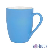 Кружка Trend,  покрытие soft touch, синий фото