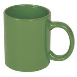 Кружка фаянсовая 320 мл, зеленый фото