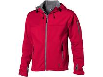Куртка софтшел Match мужская, красный/ серебряный/серый фото