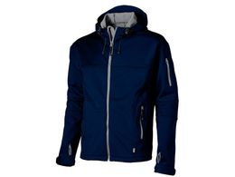 Куртка софтшел Match мужская, синий/ серый фото