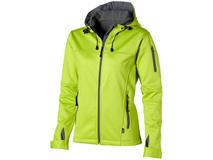 Куртка софтшел Match женская, серебряный/серый, зеленый фото