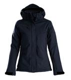 Куртка софтшелл женская Skeleton Lady, темно-синяя фото