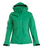 Куртка софтшелл женская Skeleton Lady, зеленая фото