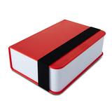 Ланч бокс book, красный фото